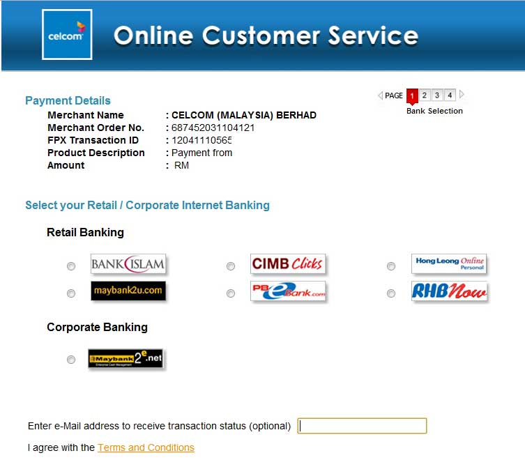 pembayaran bil celcom broadband, bil celcom, bil celcom online, pembayaran bil online, celcom postpaid, cimbclicks