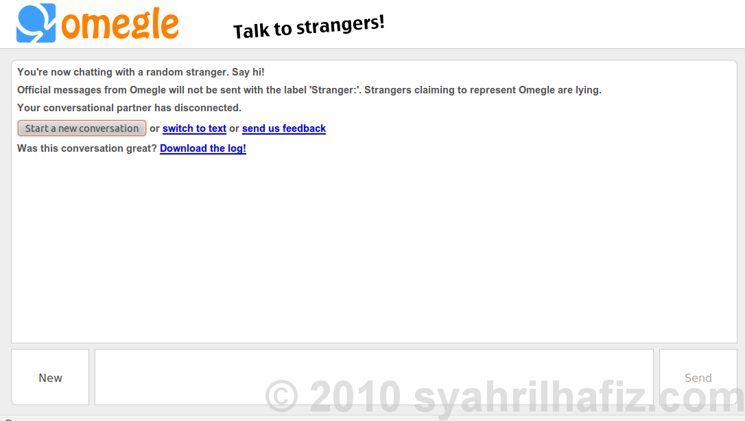 omegle video chat pule