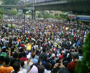 gambar #bersih, bersih 2.0, demostrasi bersih jalanan, perhimpunan bersih