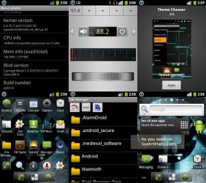 Official CyanogenMod Samsung Galaxy Mini, screenshot official cyanogenmod galaxy mini