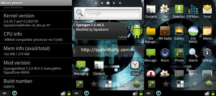 cyanogenmod cm7.2.0 RC5.3, Squadzone CyanogenMod