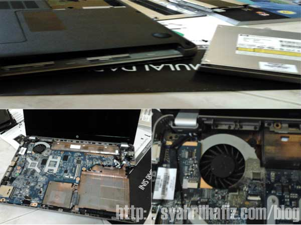 cara Buka Casing Laptop, Bersih Kipas Laptop, Cara Bersih Kipas Laptop, HP G42, Atasi Masalah Laptop Panas, Cara Atasi Masalah Laptop, Langkah Penjagaan Laptop, Laptop Overheating, Tips Bersih Laptop, Tips Asas Penjagaan Laptop