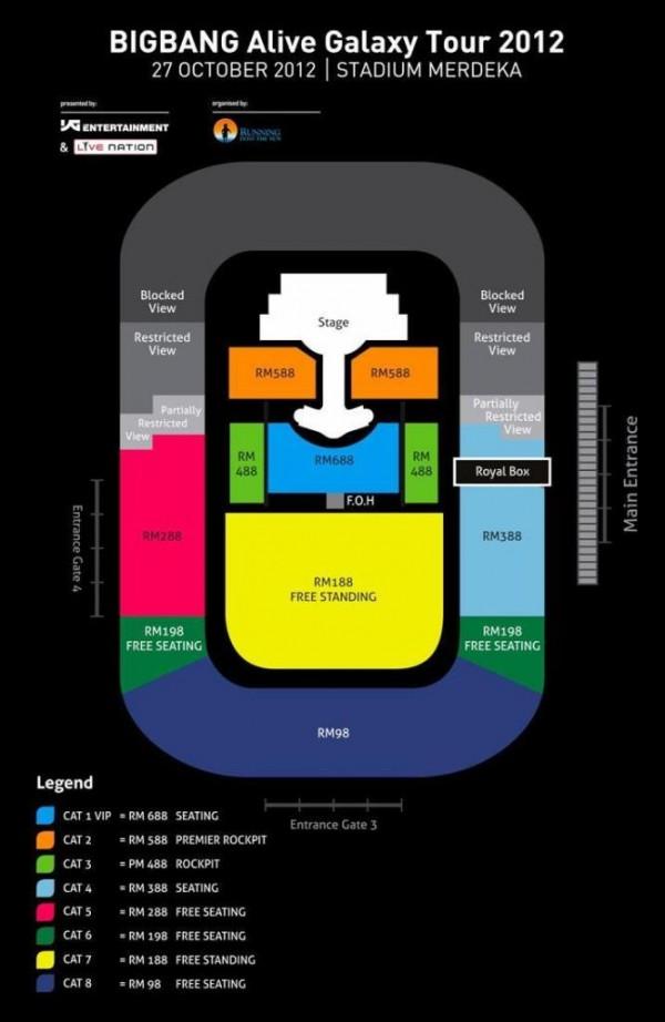 Tiket BIGBANG Alive Galaxy Tour 2012, BIGBANG Live In Malaysia, BigBang Concert 2012