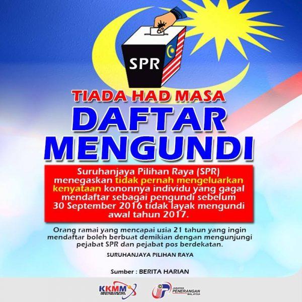 daftar pengundi online, daftar pemilih online, daftar mengundi online, semakan daftar pemilih, laman web spr, cara semak pengundi